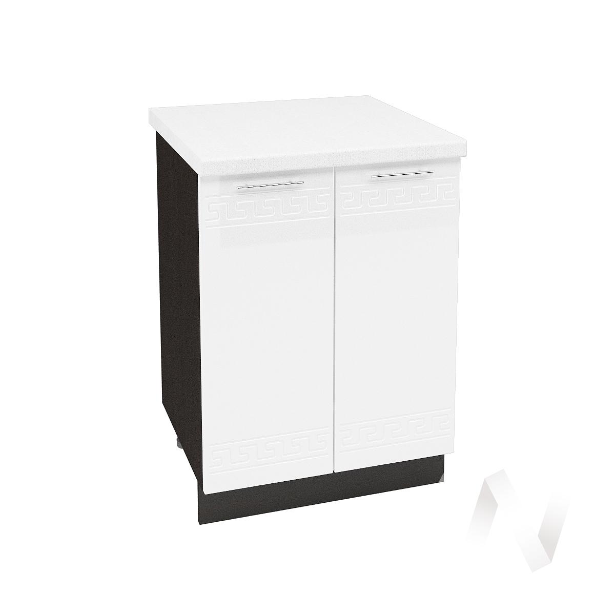 """Кухня """"Греция"""": Шкаф нижний 600, ШН 600 (белый металлик/корпус венге)"""