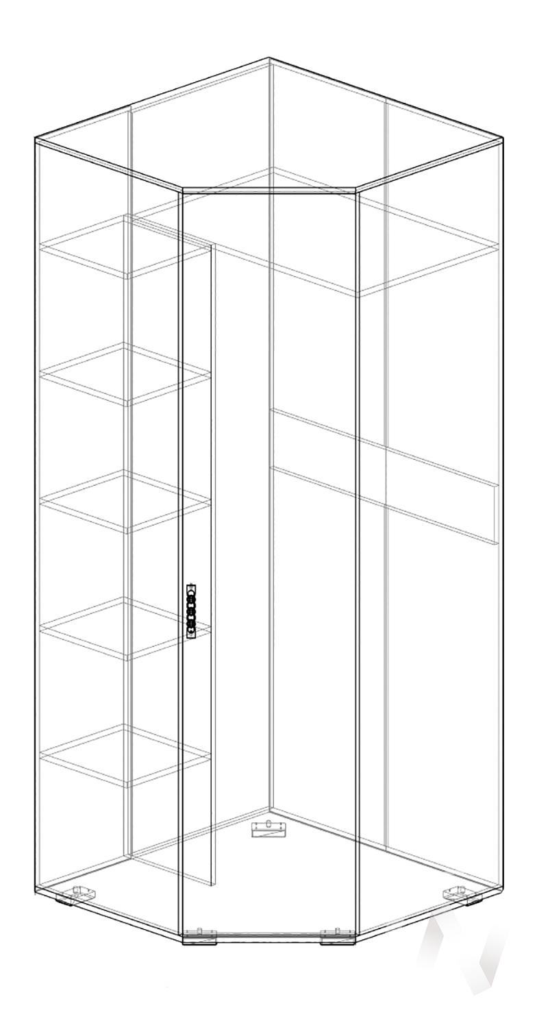 Нежность М14 Шкаф угловой правый (бодега/прованс)