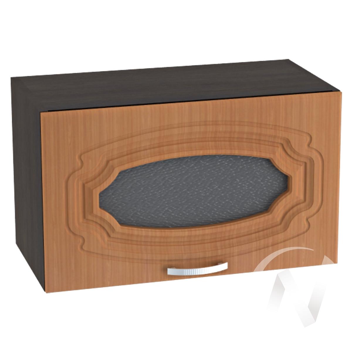 """Кухня """"Настя"""": Шкаф верхний горизонтальный со стеклом 600, ШВГС 600 (Орех миланский/корпус венге)"""