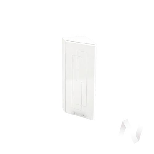 """Кухня """"Вега"""": Шкаф верхний торцевой 224, ШВТ 224 (белый металлик/корпус белый)"""