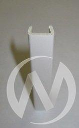 Профиль 100 мм торцевой ламинированный (белый)