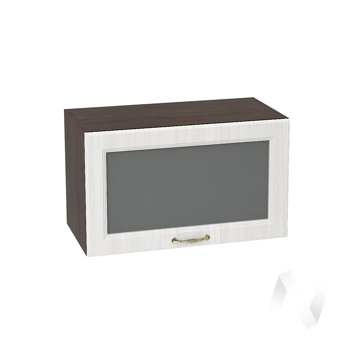 """Кухня """"Виктория"""": Шкаф верхний горизонтальный со стеклом 600, ШВГС 600 (корпус венге)"""