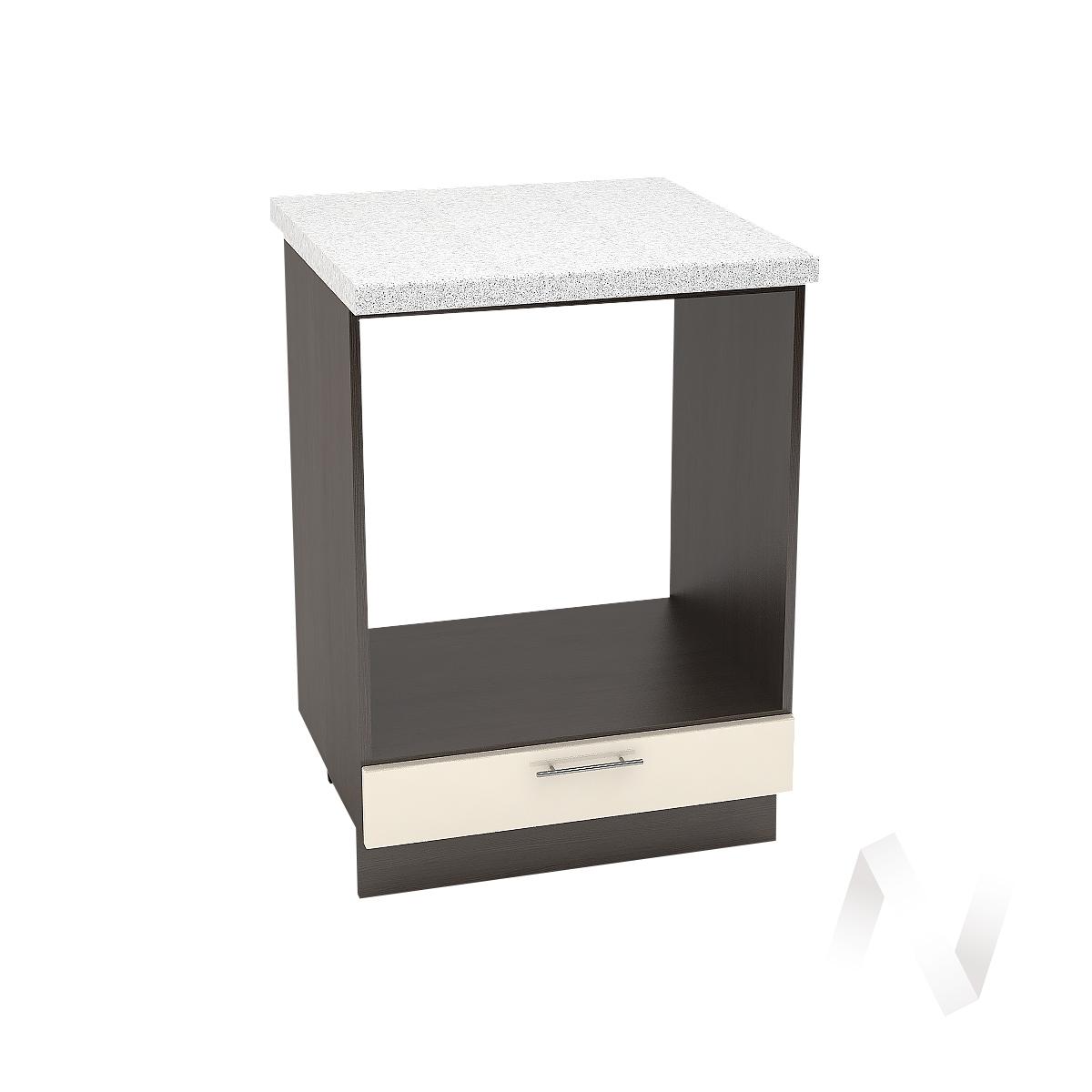 "Кухня ""Валерия-М"": Шкаф нижний под духовку 600, ШНД 600 (Ваниль глянец/корпус венге)"
