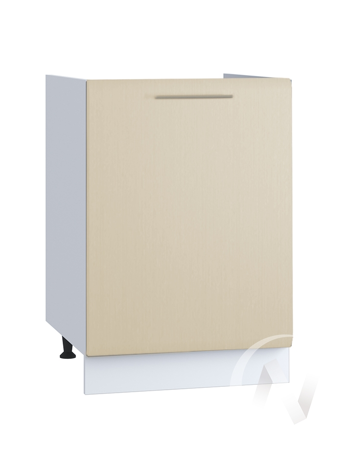 "Кухня ""Люкс"": Шкаф нижний под мойку 500, ШНМ 500 (Шелк жемчуг/корпус белый)"