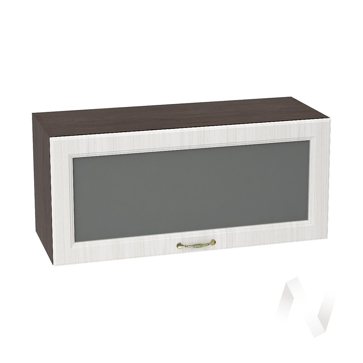 """Кухня """"Виктория"""": Шкаф верхний горизонтальный со стеклом 800, ШВГС 800 (корпус венге)"""