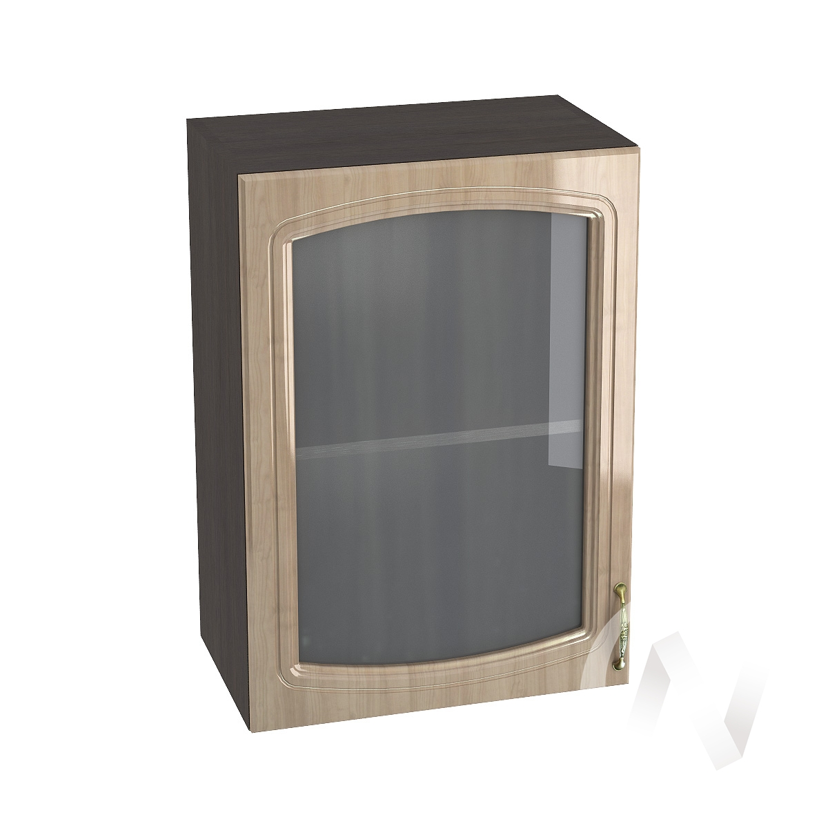 "Кухня ""Сити"": Шкаф верхний со стеклом 500, ШВС 500 (корпус венге)"