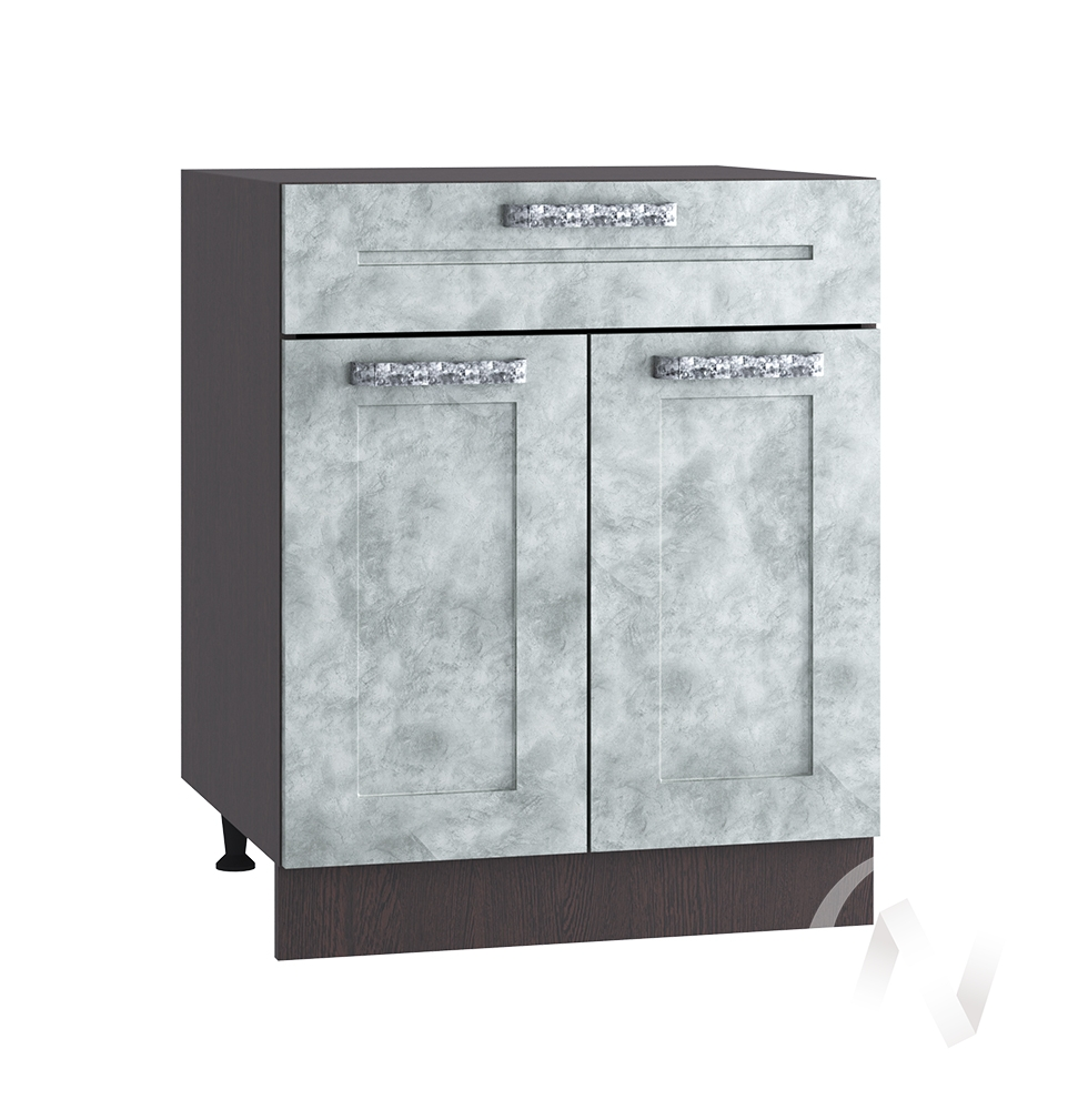 """Кухня """"Лофт"""": Шкаф нижний с ящиком 600, ШН1Я 600 М (Бетон серый/корпус венге)"""