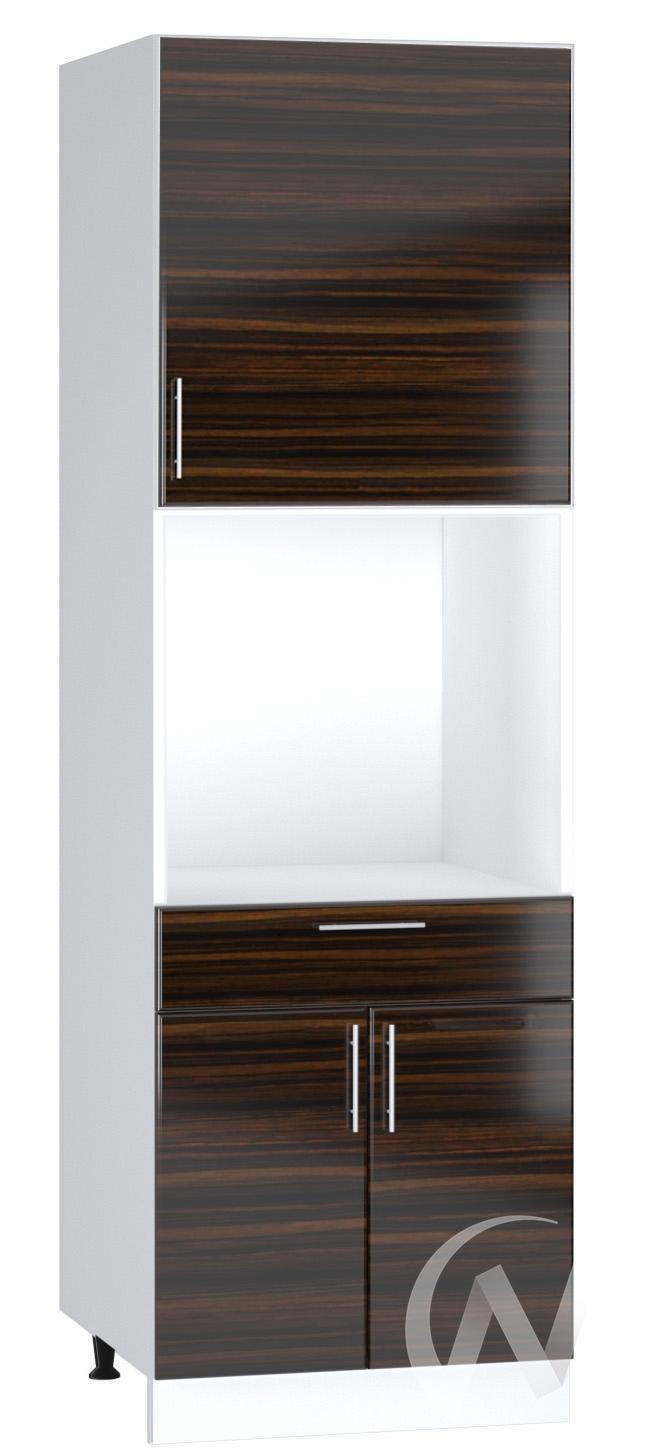 "Кухня ""Норден"": Шкаф пенал с ящиком 600, ШП1Я 600 (эбен/корпус белый)"