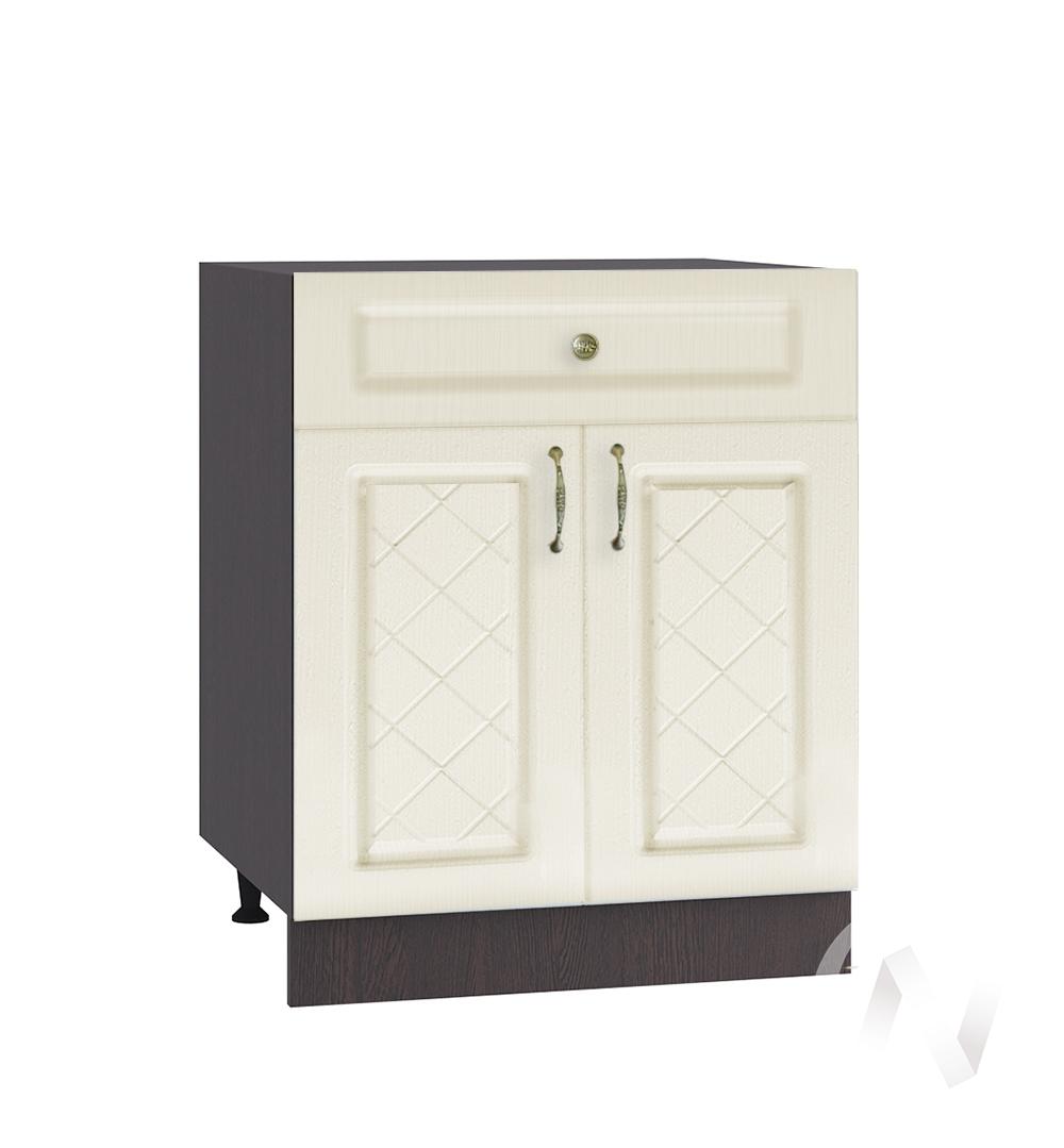 """Кухня """"Селена"""": Шкаф нижний с ящиком 600, ШН1Я 600 М (Дуб ваниль/корпус венге)"""