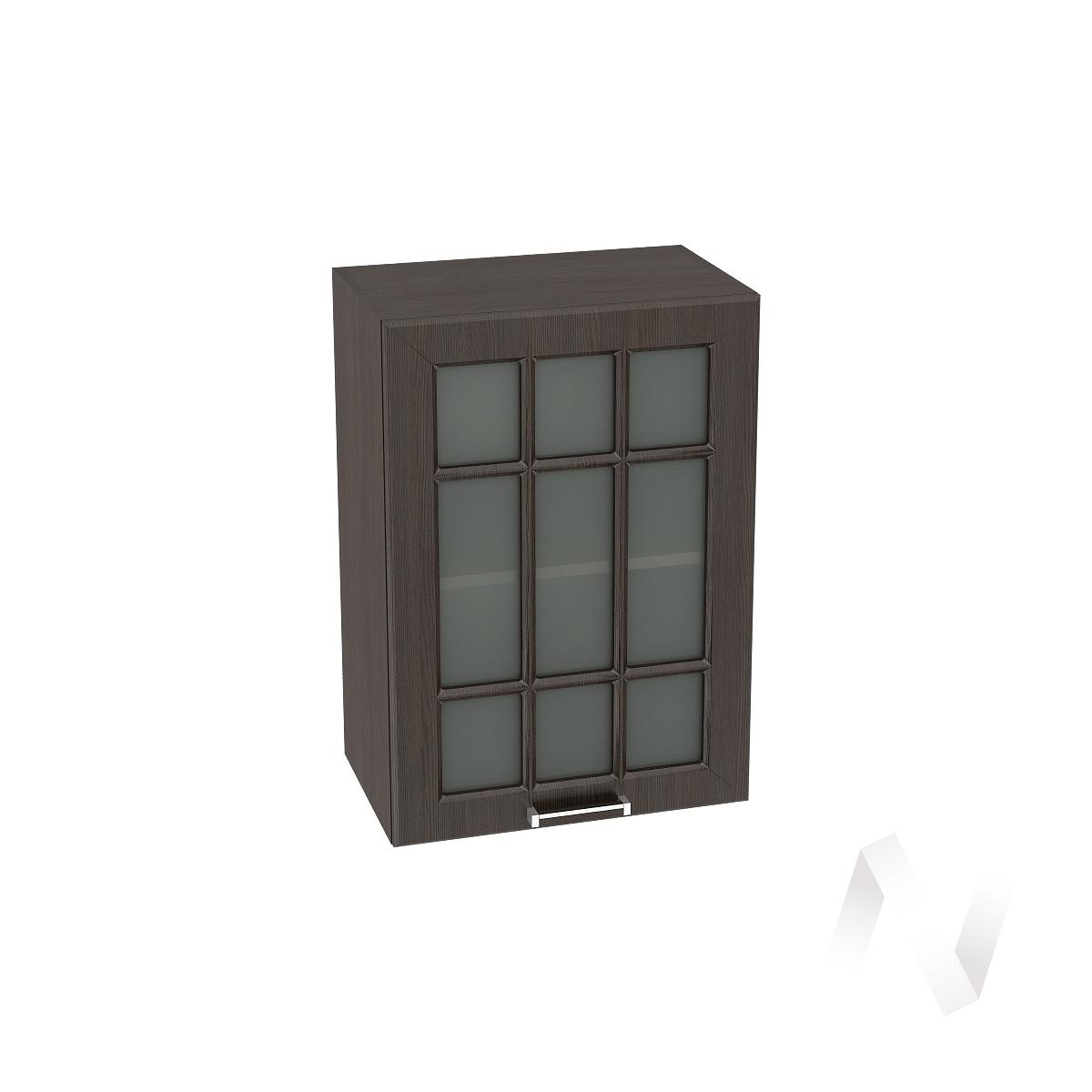 """Кухня """"Прага"""": Шкаф верхний со стеклом 500, ШВС 500 (венге/корпус венге)"""