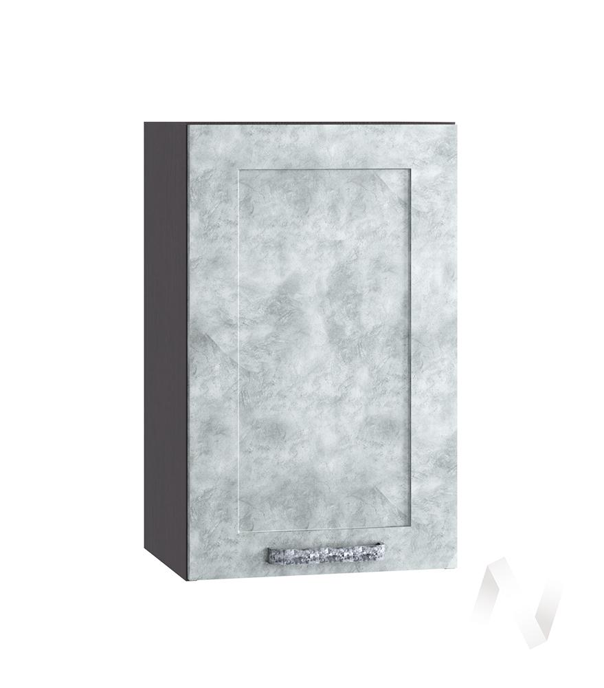 "Кухня ""Лофт"": Шкаф верхний 400, ШВ 400 (Бетон серый/корпус венге)"