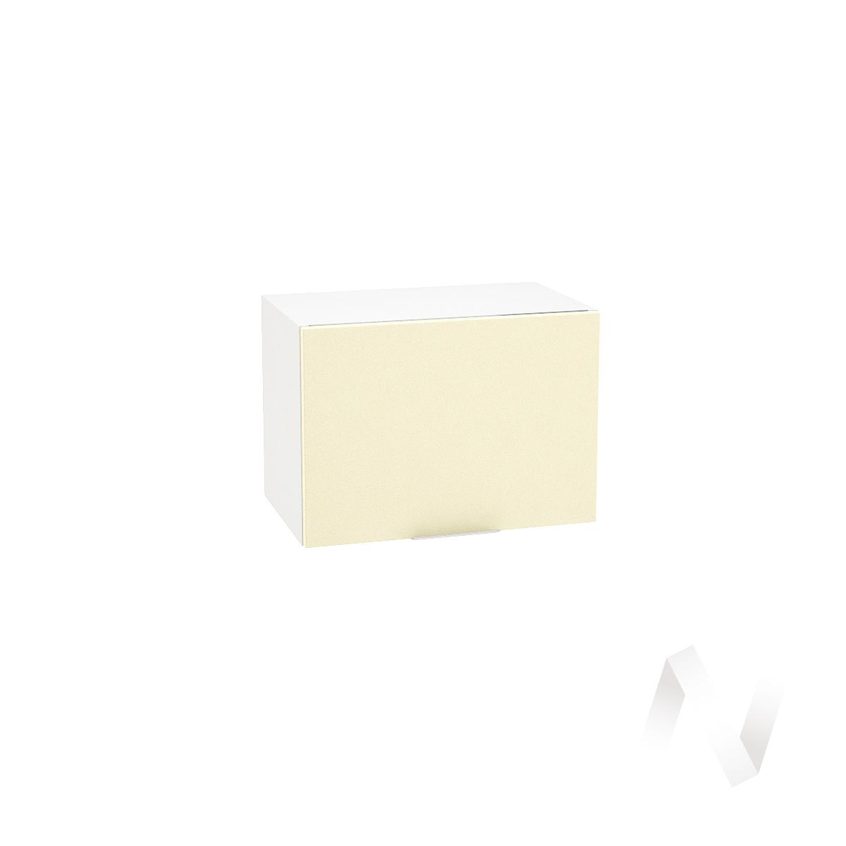 """Кухня """"Терра"""": Шкаф верхний горизонтальный 500, ШВГ 500 (ваниль софт/корпус белый)"""