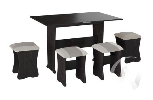 Обеденная группа тип 3 кожзам (венге/серый,белый)  в Томске — интернет магазин МИРА-мебель