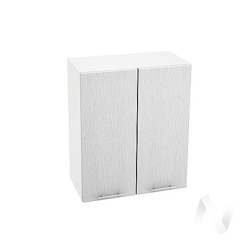 "Кухня ""Валерия-М"": Шкаф верхний 600, ШВ 600 (дождь серый/корпус белый)"