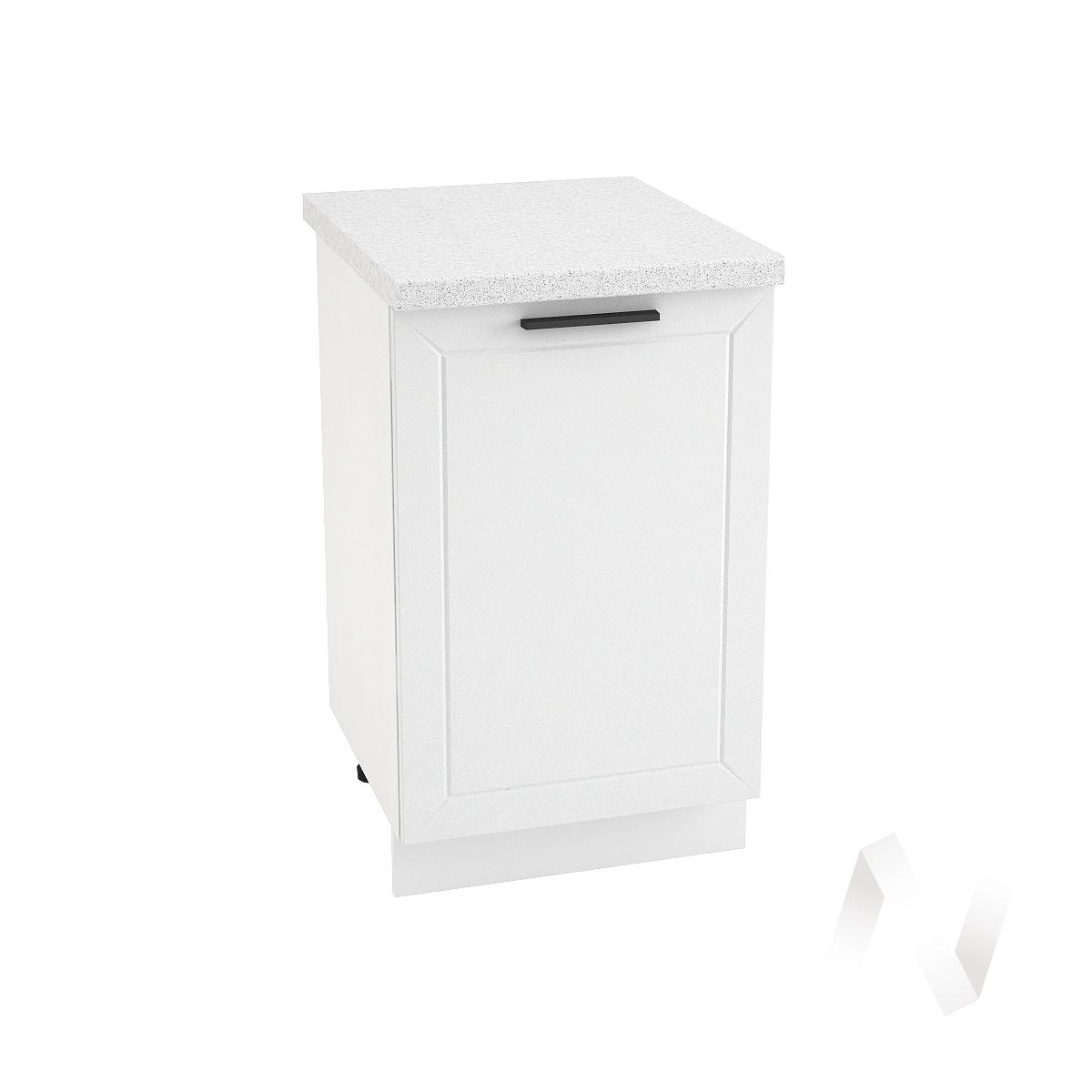 """Кухня """"Глетчер"""": Шкаф нижний 500, ШН 500 (Айленд Силк/корпус белый)"""