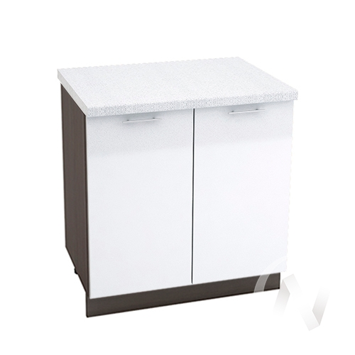 "Кухня ""Валерия-М"": Шкаф нижний 800, ШН 800 (белый металлик/корпус венге)"