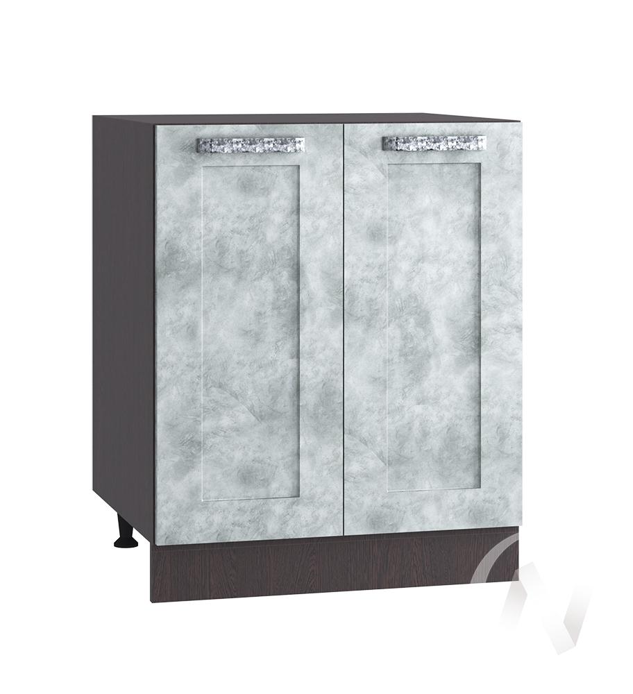 "Кухня ""Лофт"": Шкаф нижний 600, ШН 600 (Бетон серый/корпус венге)"