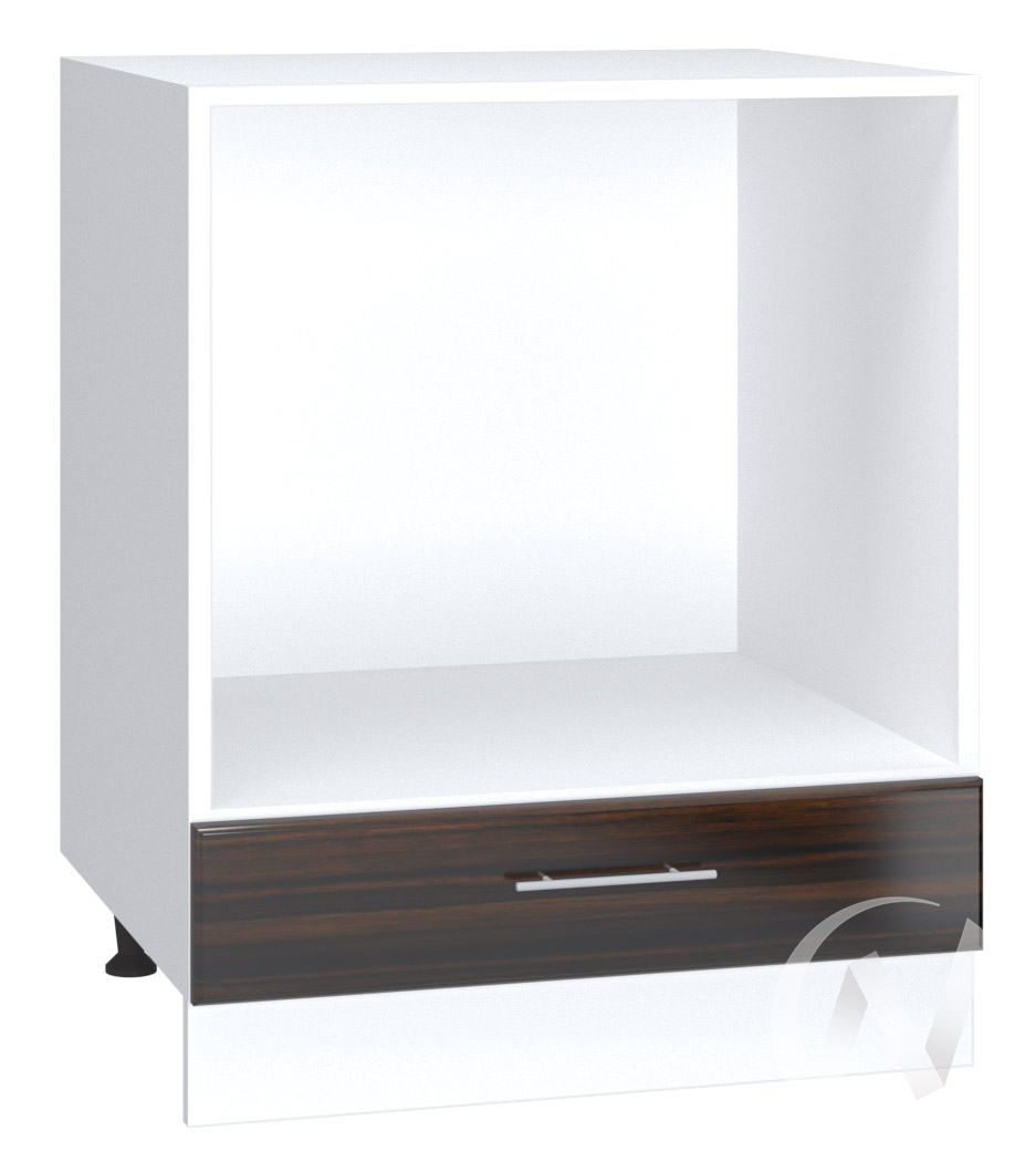 "Кухня ""Норден"": Шкаф нижний под духовку 600, ШНД 600 (эбен/корпус белый)"