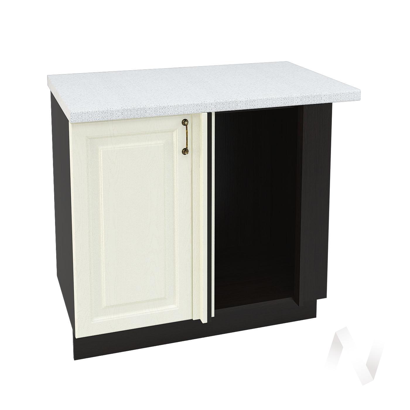 """Кухня """"Ницца"""": Шкаф нижний угловой 990М, ШНУ 990М (Крем/корпус венге)"""
