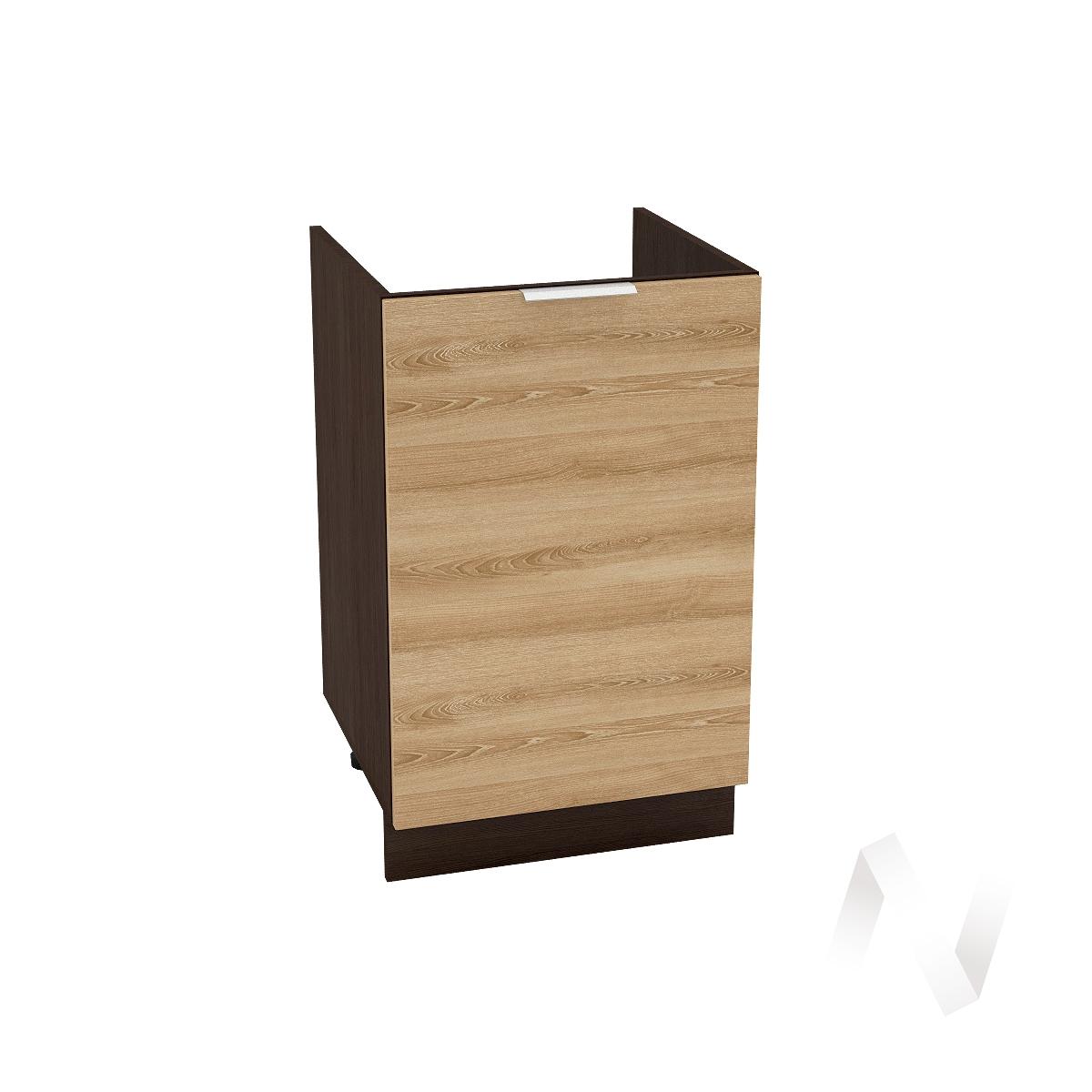 """Кухня """"Терра"""": Шкаф нижний под мойку 500, ШНМ 500 (ель карпатская/корпус венге)"""