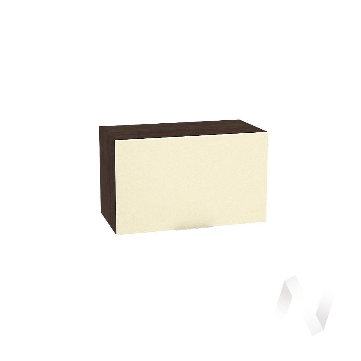 """Кухня """"Терра"""": Шкаф верхний горизонтальный 600, ШВГ 600 (ваниль софт/корпус венге)"""