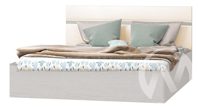 Кровать 1,6 Николь МДФ (ясень шимо светлый/кофе с молоком)