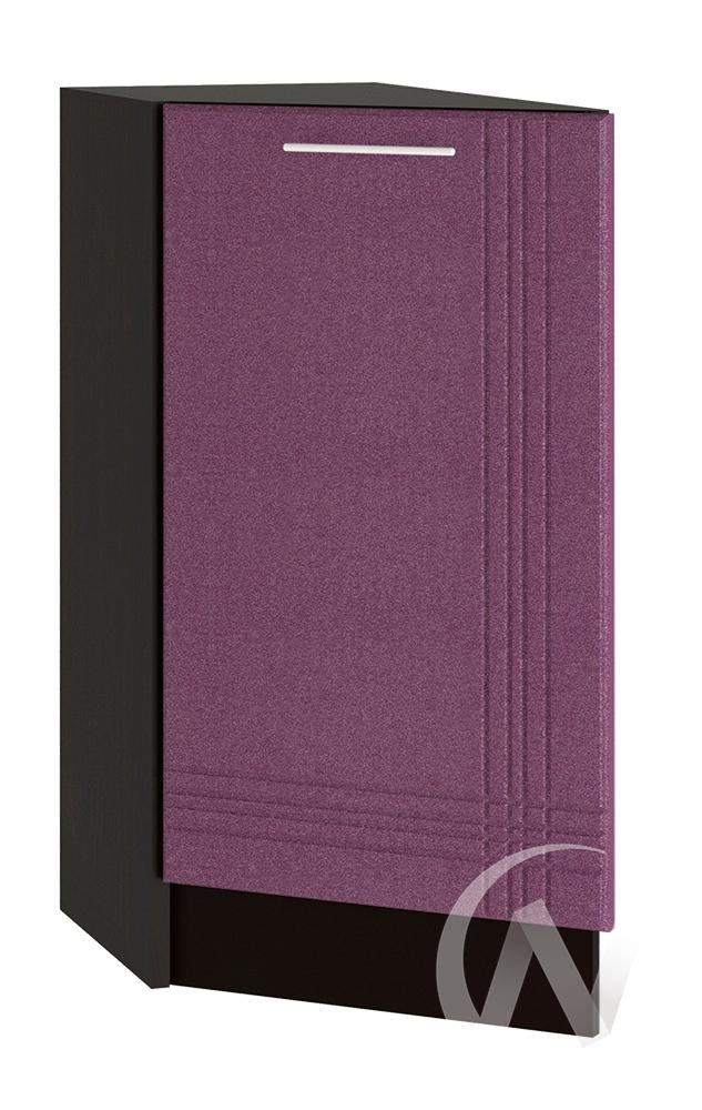 """Кухня """"Струна"""": Шкаф нижний торцевой 300, ШНТ 300 (фиолетовый металлик/корпус венге)"""