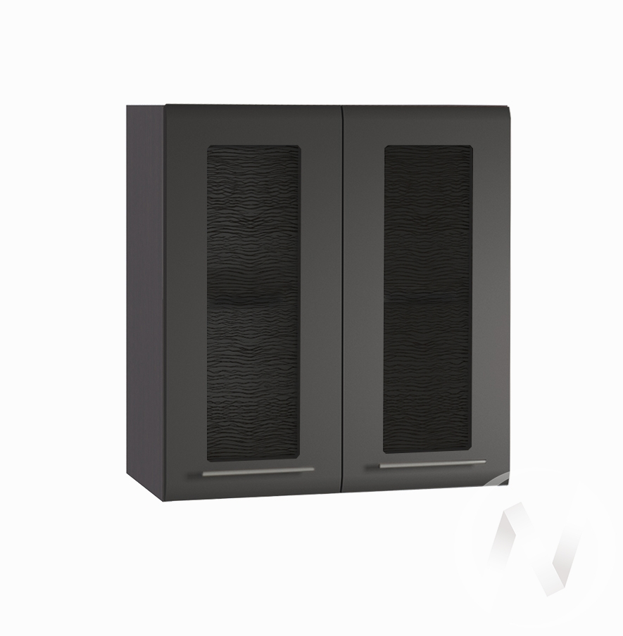"""Кухня """"Люкс"""": Шкаф верхний со стеклом 600, ШВС 600 (Шелк венге/корпус венге)"""