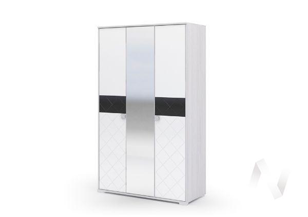 Шкаф ШК 023 Спальня Сальма (анкор/белый глянец)