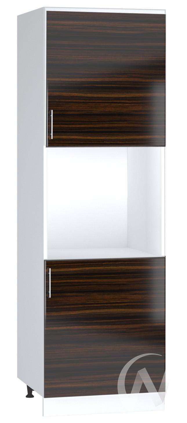 """Кухня """"Норден"""": Шкаф пенал 600, ШП 600 (эбен/корпус белый)"""