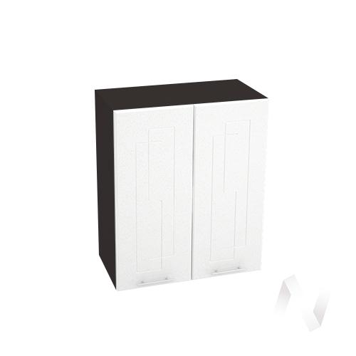 "Кухня ""Вега"": Шкаф верхний 600, ШВ 600 (белый металлик/корпус венге)"
