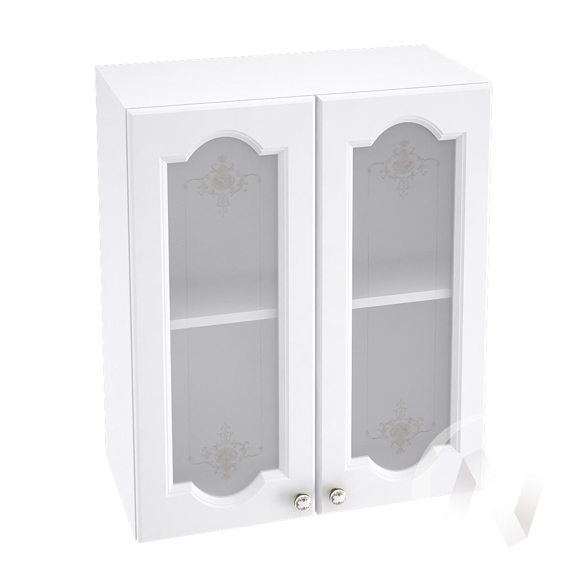 "Кухня ""Шарлиз"": Шкаф верхний со стеклом 600, ШВС 600 (корпус белый)"