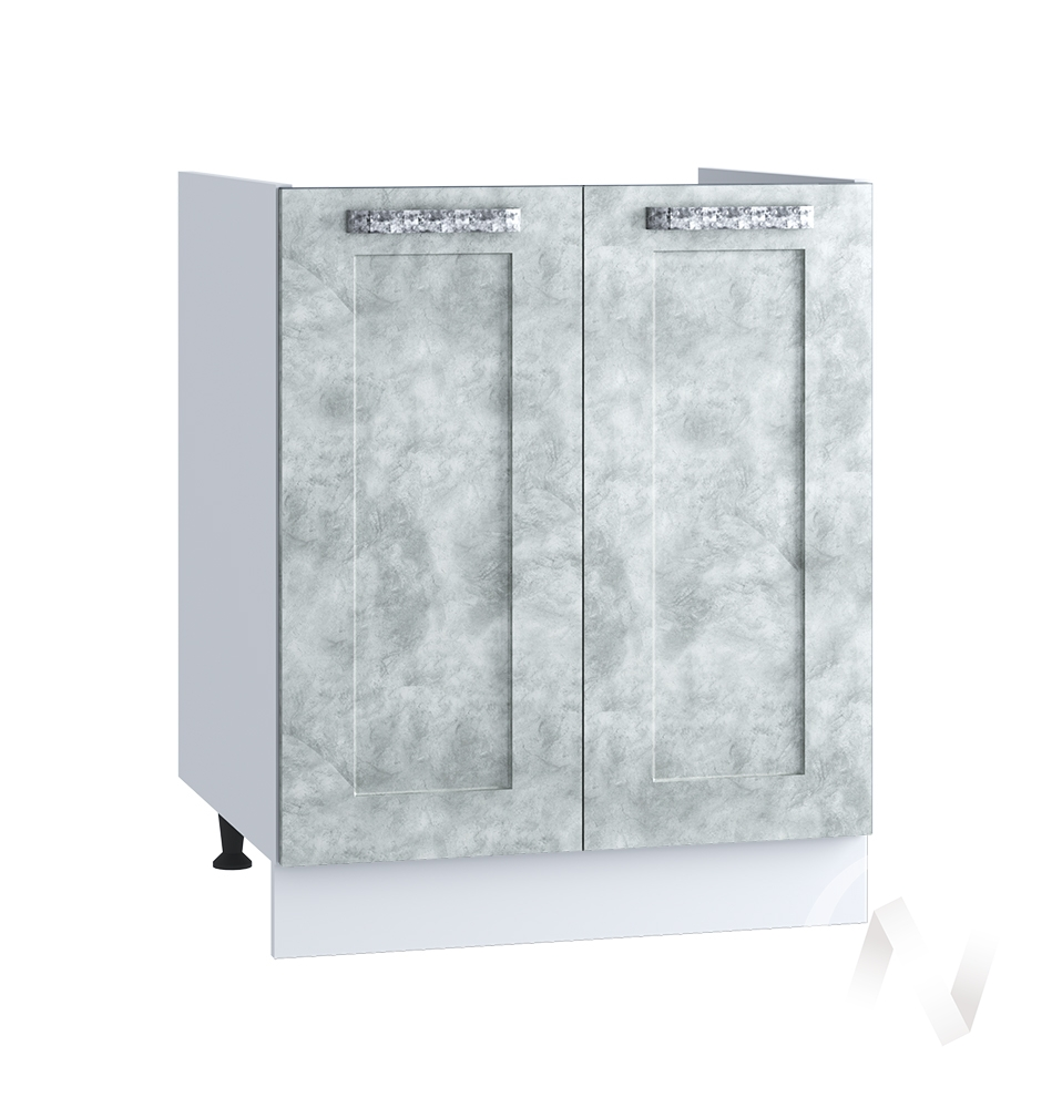 "Кухня ""Лофт"": Шкаф нижний под мойку 600, ШНМ 600 (Бетон серый/корпус белый)"