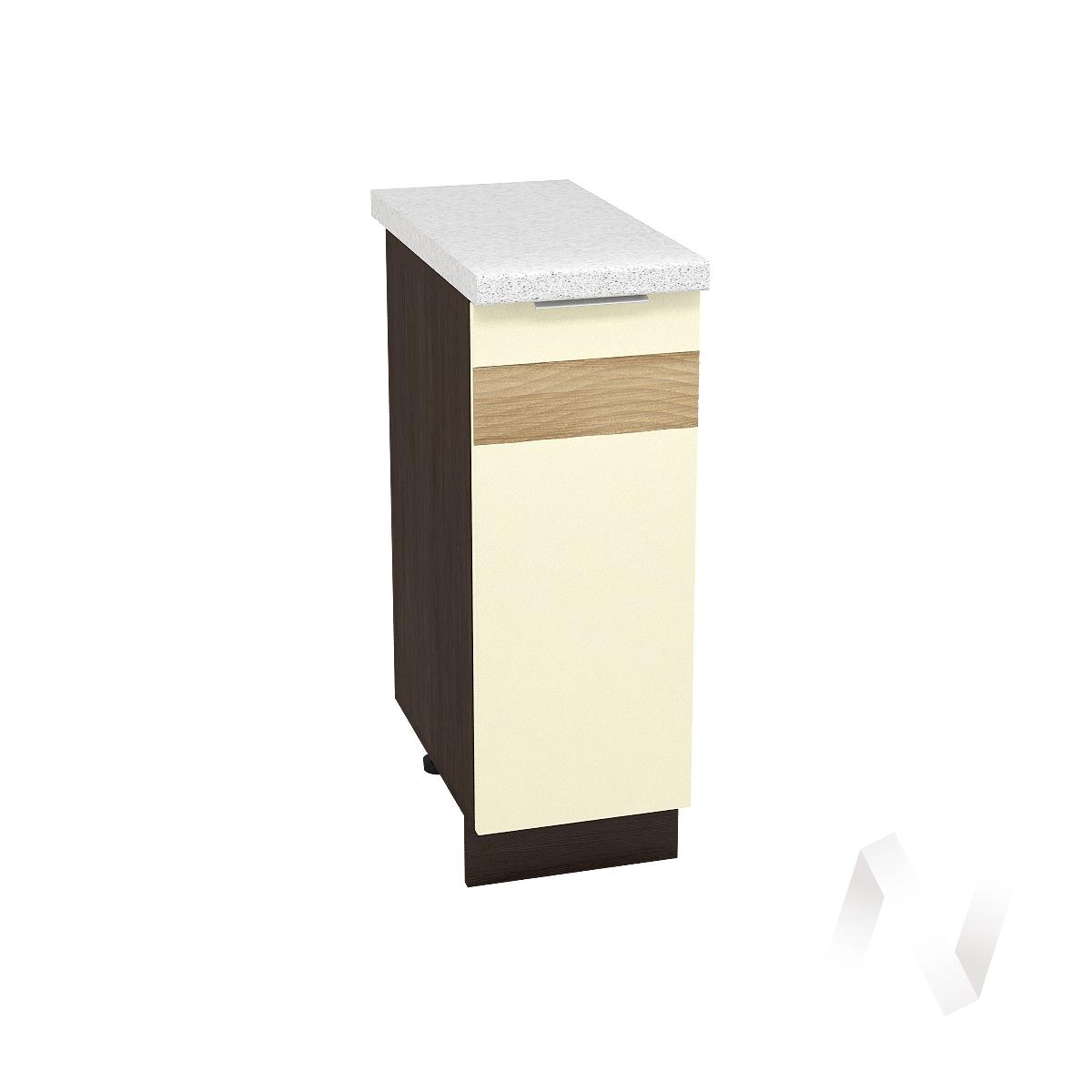 """Кухня """"Терра"""": Шкаф нижний левый 300, ШН 300 (ваниль софт/ель карпатская/корпус венге)"""