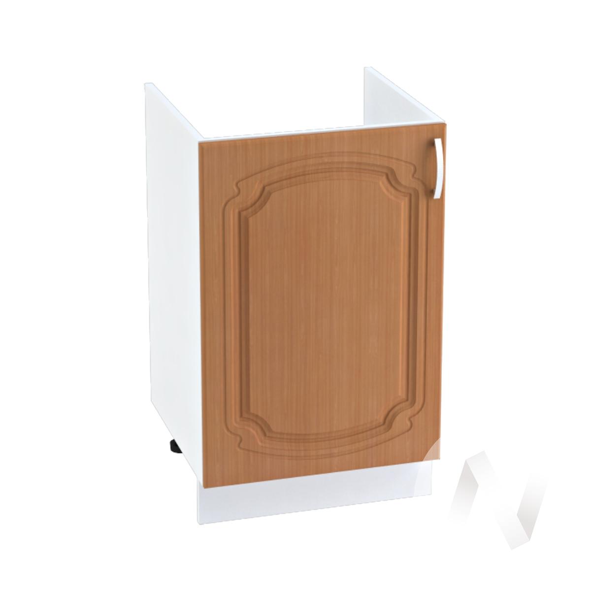 "Кухня ""Настя"": Шкаф нижний под мойку 500, ШНМ 500 (Орех миланский/корпус белый)"