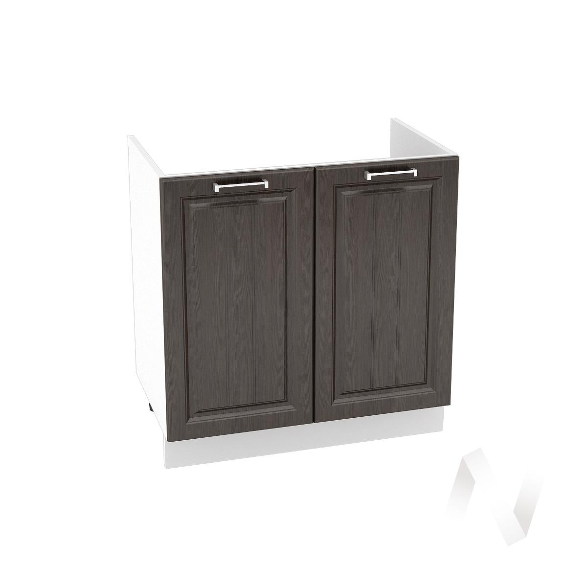 "Кухня ""Прага"": Шкаф нижний под мойку 800, ШНМ 800 (венге/корпус белый)"