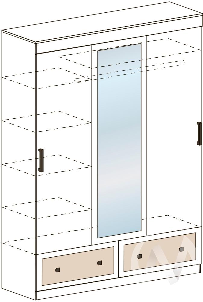 Шкаф ШКК 401 Спальня Барселона (белфорт/белфорт)