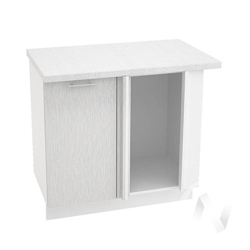 "Кухня ""Валерия-М"": Шкаф нижний угловой 990М, ШНУ 990М (дождь серый/корпус белый)"