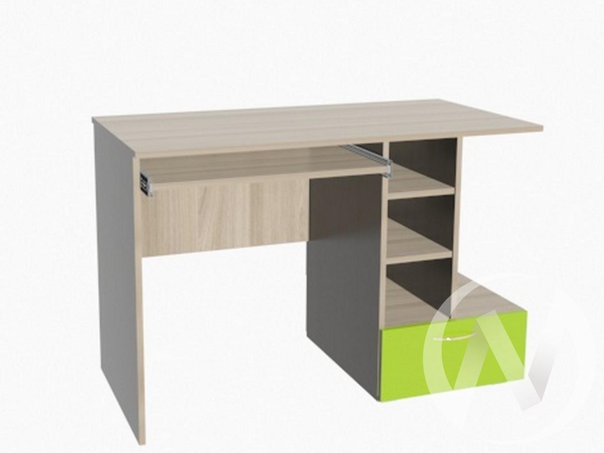 Глобус 1 стол компьютерный (ясень шимо светлый/лайм)