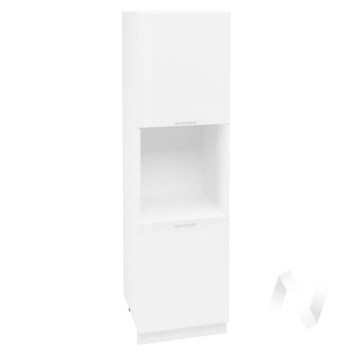 """Кухня """"Греция"""": Шкаф пенал 600, ШП 600 (белый металлик/корпус белый)"""