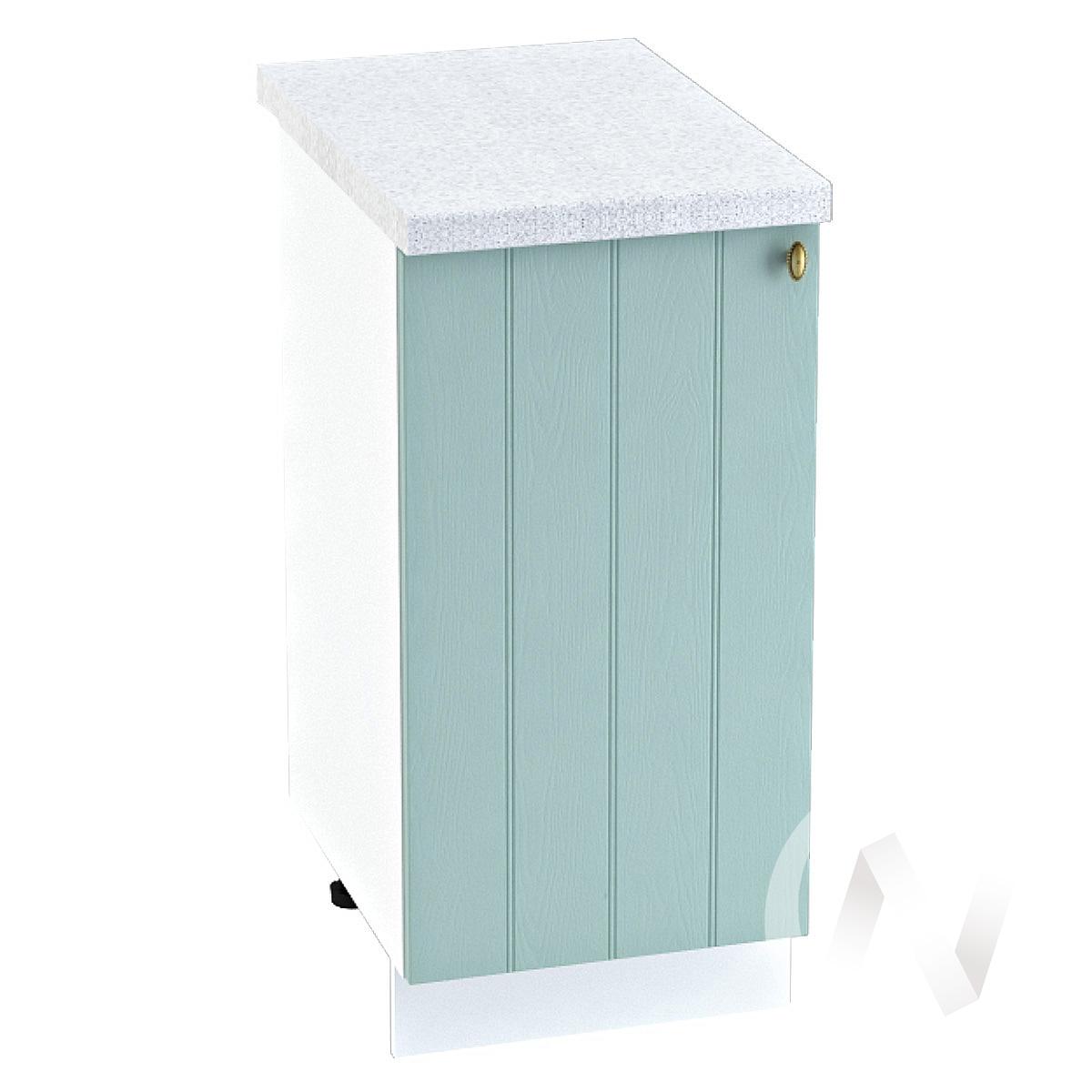 "Кухня ""Прованс"": Шкаф нижний 400, ШН 400 (голубой/корпус белый)"