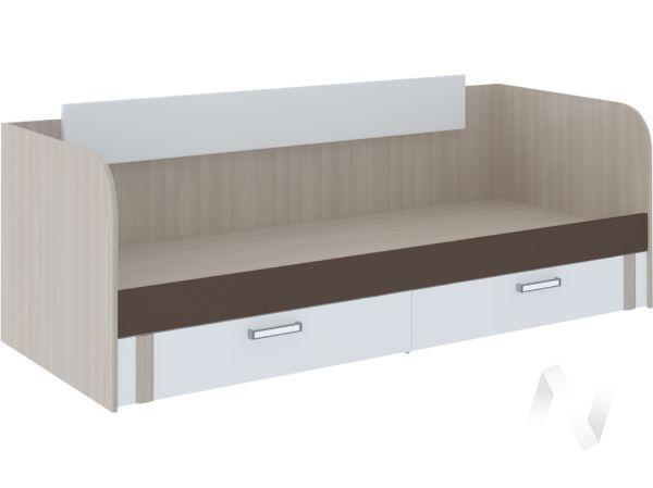 Кровать с ящиками Walker М13 (ясень шимо светлый/белый)
