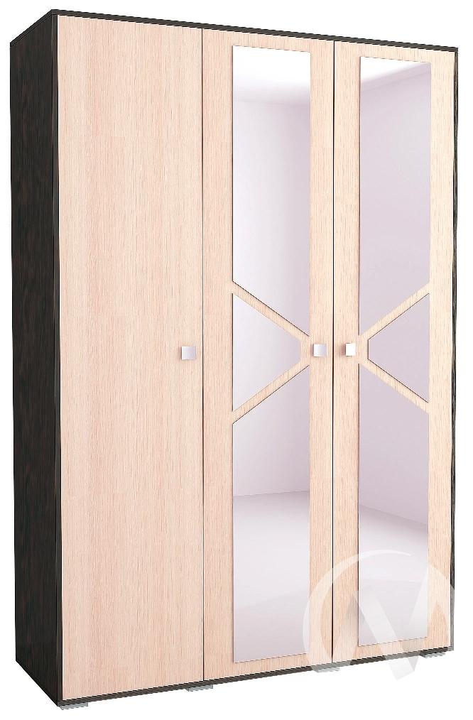 Шкаф 3-х створчатый Спальня Ненси-2 (венге/дуб молочный)