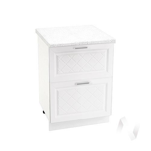 """Купить кухня """"вена"""": шкаф нижний с 2-мя ящиками 600, шн2я 600 (корпус белый) в Новосибирске в интернет-магазине Мебель плюс Техника"""