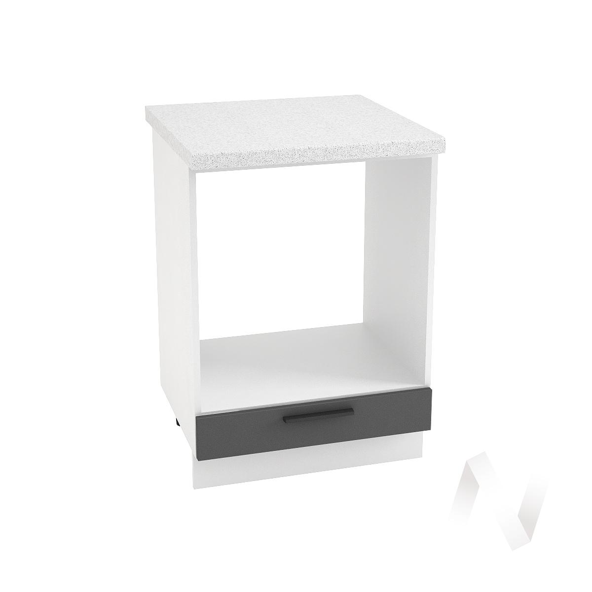"""Кухня """"Глетчер"""": Шкаф нижний под духовку 600, ШНД 600 (Маренго силк/корпус белый)"""