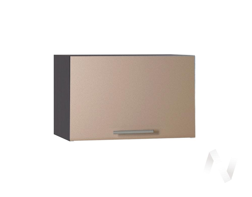 """Кухня """"Люкс"""": Шкаф верхний горизонтальный 500, ШВГ 500 (Шоколад матовый/корпус венге)"""