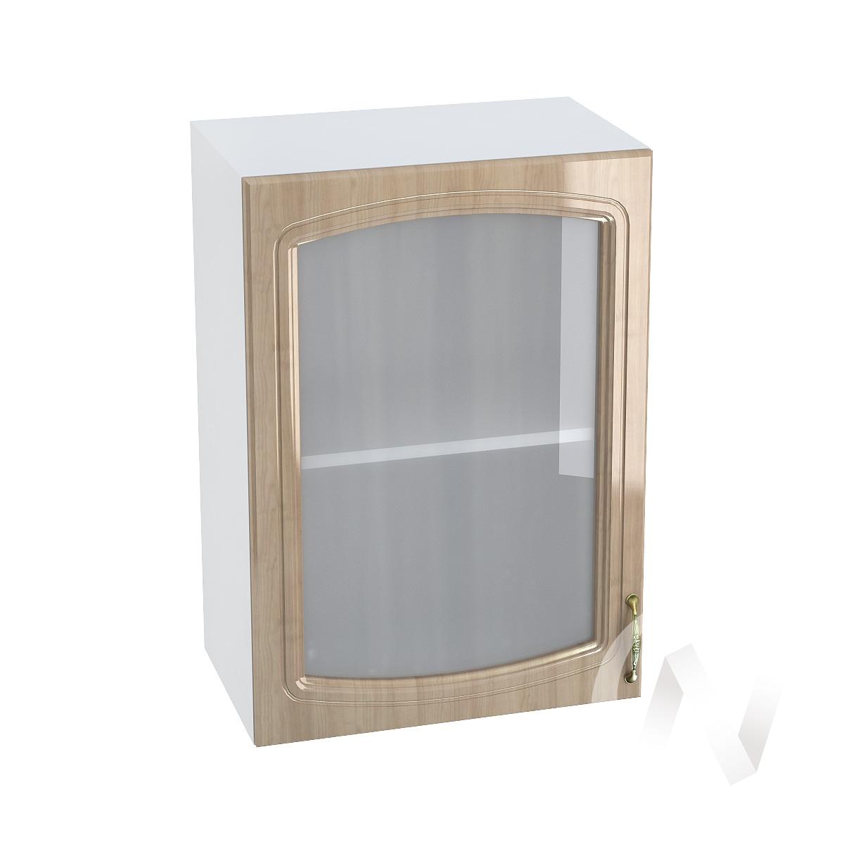 "Кухня ""Сити"": Шкаф верхний со стеклом 500, ШВС 500 (корпус белый)"