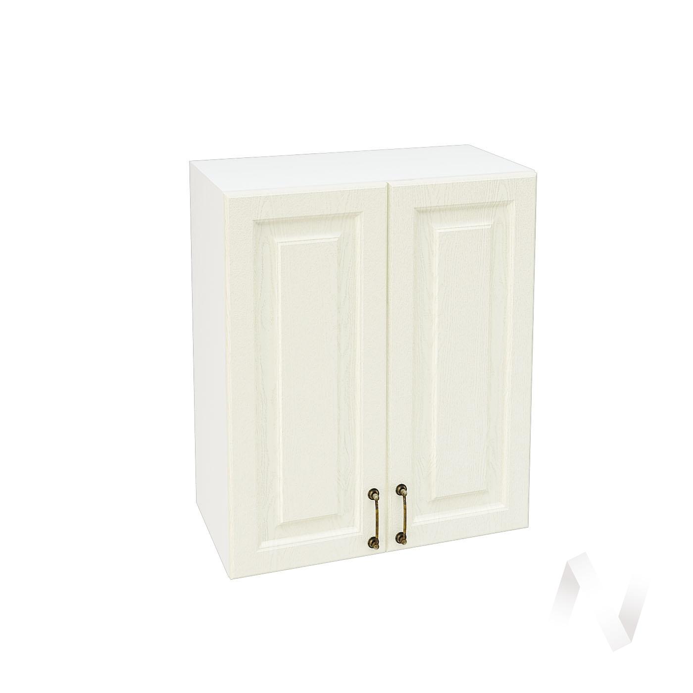 """Кухня """"Ницца"""": Шкаф верхний 600, ШВ 600 (Крем/корпус белый)"""