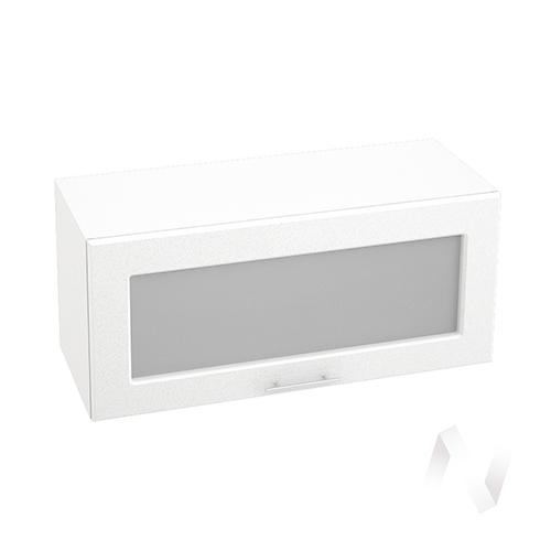 """Кухня """"Вега"""": Шкаф верхний горизонтальный со стеклом 800, ШВГС 800 (белый металлик/корпус белый)"""