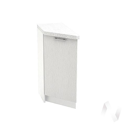 """Кухня """"Валерия-М"""": Шкаф нижний торцевой 300, ШНТ 300 (дождь серый/корпус белый)"""
